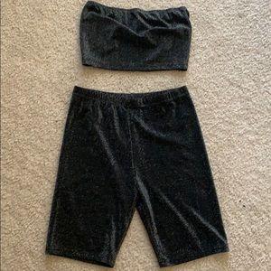 Biker shorts set
